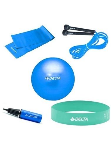 Delta Delta Aerobik Loop Bant Atlama Ipi Pompa Pilates Topu Bandı 65 Cm Renkli
